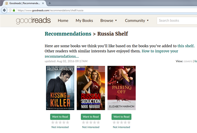 Oh, Goodreads – Russia Reviewed